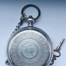 Relojes de bolsillo: RELOJ PLATA DE BOLSILLO SUIZO XIX. Lote 148058678