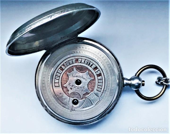 Relojes de bolsillo: Reloj plata de bolsillo Suizo XIX - Foto 5 - 148058678