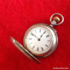 Relojes de bolsillo: ANTIGUO RELOJ DE PLATA CYLINDRE, REMONTOIR, 10 RUBIS, NUMERADO 2005, TODO ORIGINAL DE HERENCIA.. Lote 177031870