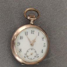 Relojes de bolsillo: RELOJ DE PLATA DE BOLSILLO , PLATA DE 800 , CYLINDRE 10 RUBIS . Lote 177381013