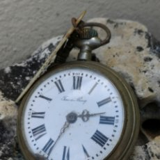Relojes de bolsillo: C2/8 RELOJ VINTAGE TIME IS MONEY 53MM PIEZAS. Lote 177600180