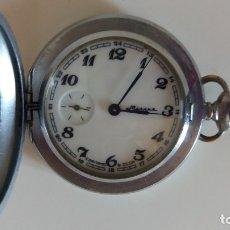 Relojes de bolsillo: RELOJ DE BOLSILLO MOLNIJA SOVIETICO, URSS. FUNCIONA.. Lote 177622478