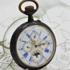 Relojes de bolsillo: GRAN RELOJ DE BOLSILLO- 5 ESFERAS-CIRCA 1880-FUNCIONANDO. Lote 177737934