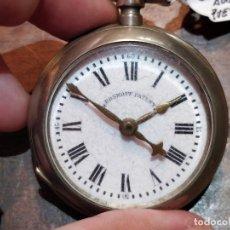 Relojes de bolsillo: RELOJ DE BOLSILLO ROSKOPF. PUESTA EN HORA MANUAL EN ESFERA.FUNCIONANDO. Lote 177760475