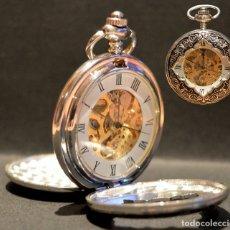Relojes de bolsillo: RELOJ DE BOLSILLO SABONETA EN PLATA 3 TAPAS AUTOMÁTICO Y CARGA MANUAL. Lote 177794293