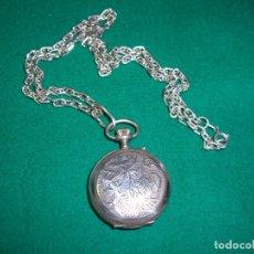 Relojes de bolsillo: RELOJ DE BOLSILLO COLGANTE CON CADENA EN PLATA.. Lote 177798875