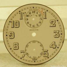 Relojes de bolsillo: RARA ESFERA ZENITH ALARM BOLSILLO MECANICO PORCELANA. Lote 177897109