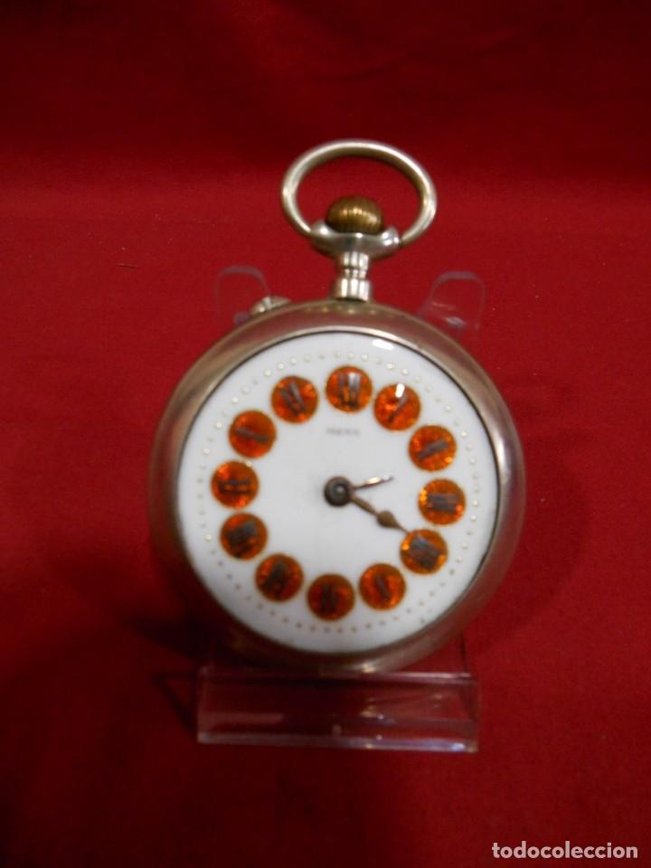 RELOJ DE BOLSILLO TIPO ROSKOPF MARCA - META - DIAMETRO 58 MM - (Relojes - Bolsillo Carga Manual)