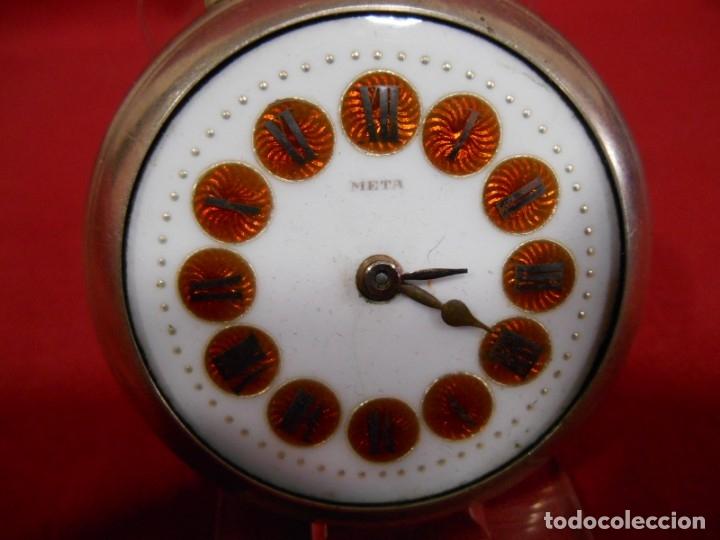 Relojes de bolsillo: RELOJ DE BOLSILLO TIPO ROSKOPF MARCA - META - DIAMETRO 58 MM - - Foto 2 - 177938657