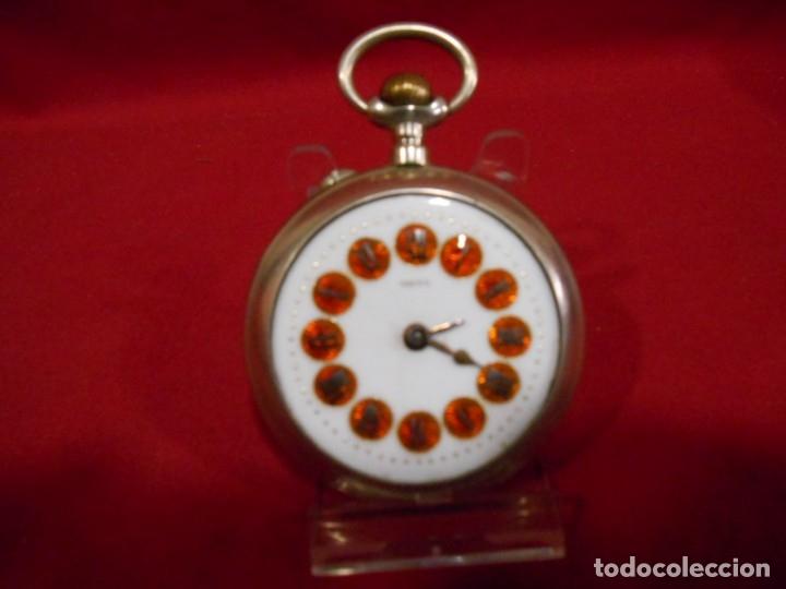Relojes de bolsillo: RELOJ DE BOLSILLO TIPO ROSKOPF MARCA - META - DIAMETRO 58 MM - - Foto 3 - 177938657