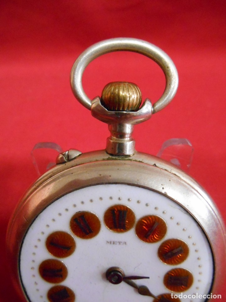 Relojes de bolsillo: RELOJ DE BOLSILLO TIPO ROSKOPF MARCA - META - DIAMETRO 58 MM - - Foto 4 - 177938657