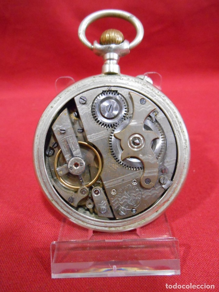 Relojes de bolsillo: RELOJ DE BOLSILLO TIPO ROSKOPF MARCA - META - DIAMETRO 58 MM - - Foto 5 - 177938657