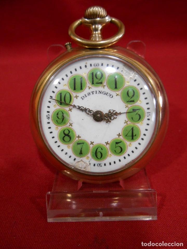 RELOJ DE BOLSILLO TIPO ROSKOPF MARCA - DISTINGUO - DIAMETRO 58 MM - (Relojes - Bolsillo Carga Manual)