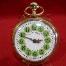 Relojes de bolsillo: RELOJ DE BOLSILLO TIPO ROSKOPF MARCA - DISTINGUO - DIAMETRO 58 MM -. Lote 177939317
