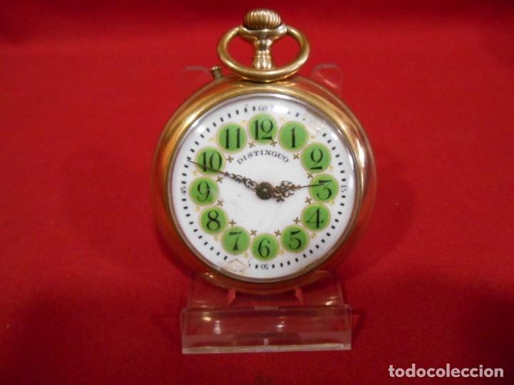 Relojes de bolsillo: RELOJ DE BOLSILLO TIPO ROSKOPF MARCA - DISTINGUO - DIAMETRO 58 MM - - Foto 2 - 177939317