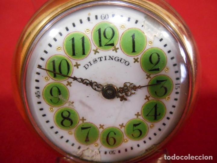 Relojes de bolsillo: RELOJ DE BOLSILLO TIPO ROSKOPF MARCA - DISTINGUO - DIAMETRO 58 MM - - Foto 3 - 177939317