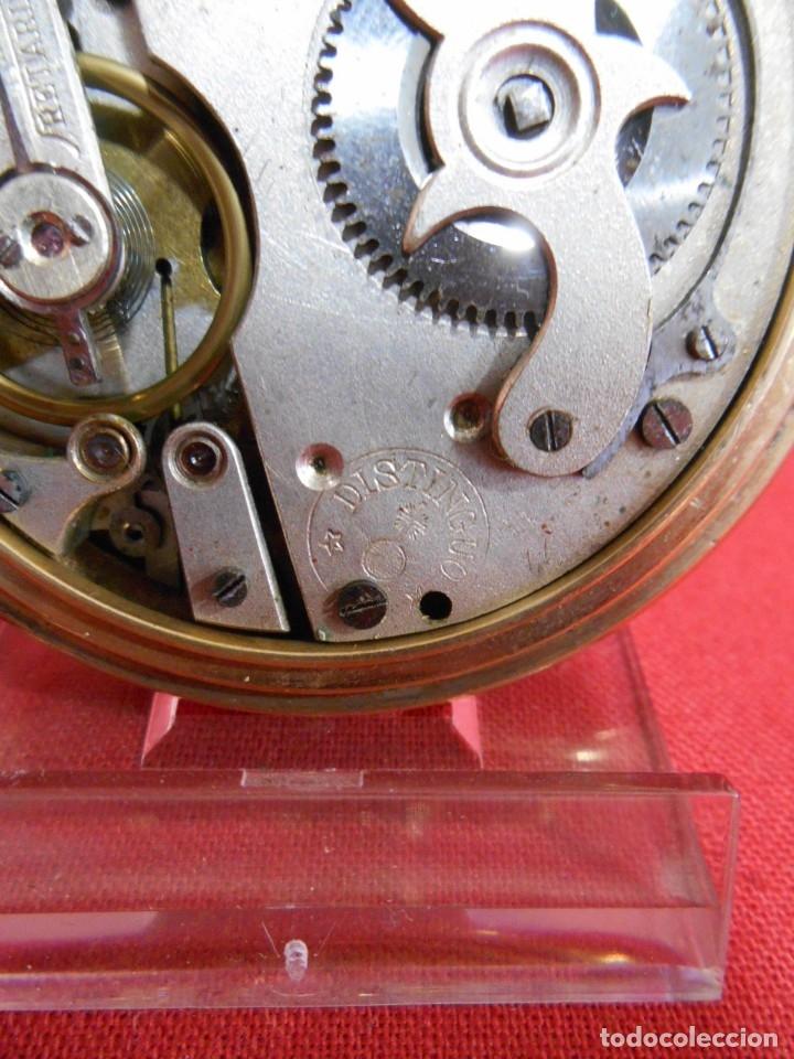 Relojes de bolsillo: RELOJ DE BOLSILLO TIPO ROSKOPF MARCA - DISTINGUO - DIAMETRO 58 MM - - Foto 6 - 177939317