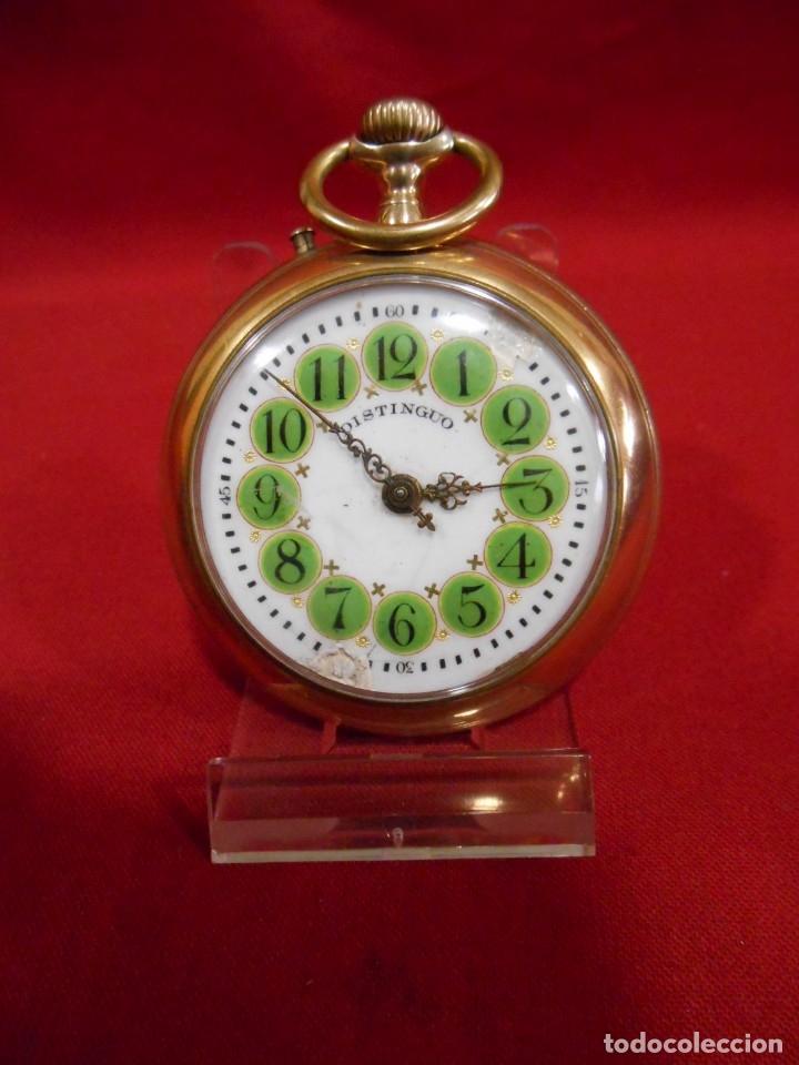 Relojes de bolsillo: RELOJ DE BOLSILLO TIPO ROSKOPF MARCA - DISTINGUO - DIAMETRO 58 MM - - Foto 9 - 177939317