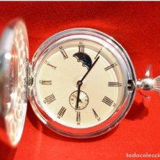 Relojes de bolsillo: EXCELENTE RELOJ DE BOLSILLO SABONETA EN PLATA FASE LUNAR. Lote 53480734