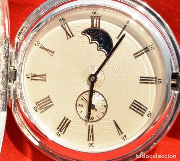 Relojes de bolsillo: EXCELENTE RELOJ DE BOLSILLO SABONETA EN PLATA FASE LUNAR - Foto 2 - 53480734