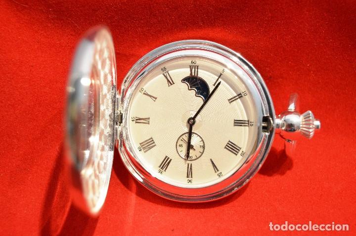 Relojes de bolsillo: EXCELENTE RELOJ DE BOLSILLO SABONETA EN PLATA FASE LUNAR - Foto 3 - 53480734