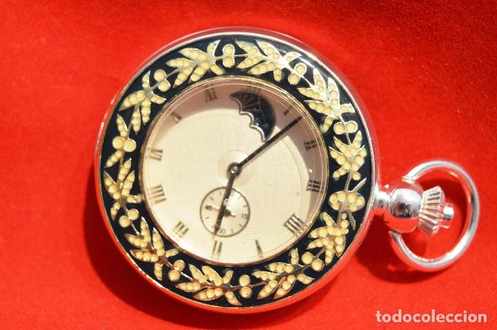 Relojes de bolsillo: EXCELENTE RELOJ DE BOLSILLO SABONETA EN PLATA FASE LUNAR - Foto 4 - 53480734