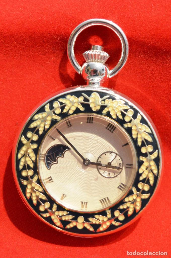 Relojes de bolsillo: EXCELENTE RELOJ DE BOLSILLO SABONETA EN PLATA FASE LUNAR - Foto 5 - 53480734