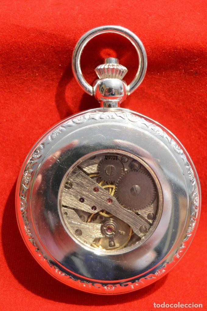 Relojes de bolsillo: EXCELENTE RELOJ DE BOLSILLO SABONETA EN PLATA FASE LUNAR - Foto 6 - 53480734