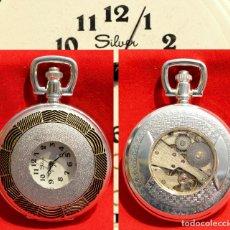Relojes de bolsillo: RELOJ DE BOLSILLO SABONETA EN PLATA MAQUINARIA VISTA. Lote 57366850