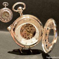 Relojes de bolsillo: RELOJ BOLSILLO SABONETA PARA IZQUIERDA AUTOMÁTICO Y CARGA MANUAL MAQUINARIA VISTA. Lote 178162239