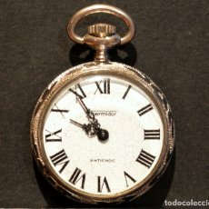 Relojes de bolsillo: RELOJ DE BOLSILLO MINIATURA MARCA THERMIDOR CARGA MANUAL INCABLOC. Lote 178201932