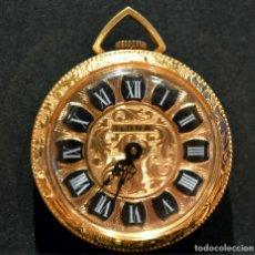 Relojes de bolsillo: RELOJ DE BOLSILLO COLGANTE EN MINIATURA SUIZO MARCA ILONA CARGA MANUAL. Lote 178210531