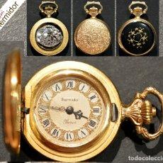 Relojes de bolsillo: RELOJ DE BOLSILLO SABONETA EN MINIATURA THERMIDOR CARGA MANUAL MAQUINARIA SUIZA 17 RUBIS. Lote 178313197