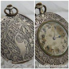 Relojes de bolsillo: RELOJ DE BOLSILLO SUIZO EXTRAPLANO DE PLATA-FUNCIONANDO. Lote 178368038