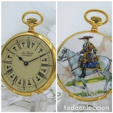Relojes de bolsillo: AERO WATCH NEUCHATEL-PRECIOSO RELOJ DE BOLSILLO SUIZO-FUNCIONANDO. Lote 178598633