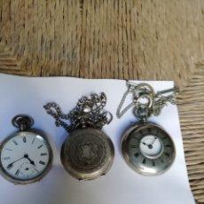 Relojes de bolsillo: LOTE DE 3 RELOJES ANTIGUOS. Lote 178651292