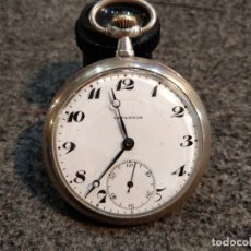 Relojes de bolsillo: OCASIÓN ANTIGÜO RELOJ DE BOLSILLO LEPANTOS, EN PLATA. DOS TAPAS. FUNCIONANDO.4,6 CMS.DIÁMETRO APROX.. Lote 38259880