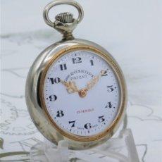 Relojes de bolsillo: GRE ROSKOPF-FANTÁSTICO RELOJ DE BOLSILLO GENRE ROSKOPF-17 RUBÍES-SUIZO-FUNCIONANDO. Lote 178816125