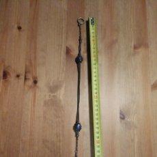 Relojes de bolsillo: RELOJ OMEGA DE BOLSILLO DE PLATA CON LEONTINA. Lote 178927231