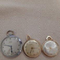 Relojes de bolsillo: RELOJES DE BOLSILLO CARGA MANUAL. Lote 179025170