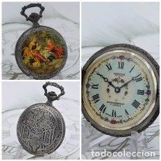 Relojes de bolsillo: PRECIOSO RELOJ DE BOLSILLO SABONETA DIANTUS DE LUXE-SUIZO-17 RUBÍES-FUNCIONANDO. Lote 179076557