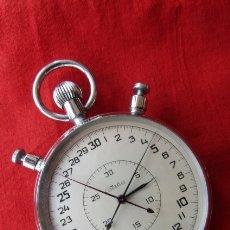 Relojes de bolsillo: ANTIGUO CRONÓMETRO MECÁNICO CUERDA DE PRECISIÓN SOVIÉTICO MARCA SLAVA UNIÓN SOVIÉTICA URSS RUSIA. Lote 179097412