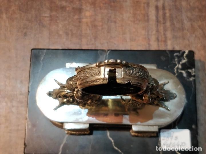Relojes de bolsillo: ANTIGUA PEANA RELOJERA DE PLATA CON RELOJ DE BOLSILLO EN PLATA ESMALTADO - Foto 15 - 57298909