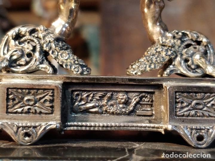 Relojes de bolsillo: ANTIGUA PEANA RELOJERA DE PLATA CON RELOJ DE BOLSILLO EN PLATA ESMALTADO - Foto 22 - 57298909