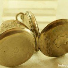 Relojes de bolsillo: RELOJ DE BOLSILLO PLATA 3 TAPAS ANDA Y PARA. Lote 190087491