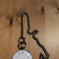 Relojes de bolsillo: RELOJ DE BOLSILLO DE PLATA CYLINDRE HUITS RUBIS. Lote 179145350