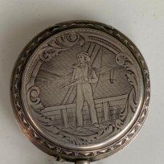 Relojes de bolsillo: 15 RUBIS , BORNAND GENEVE , RELOJ DE BOLSILLO DE PLATA , ANTIGUO , AVERIADO . Lote 179149495