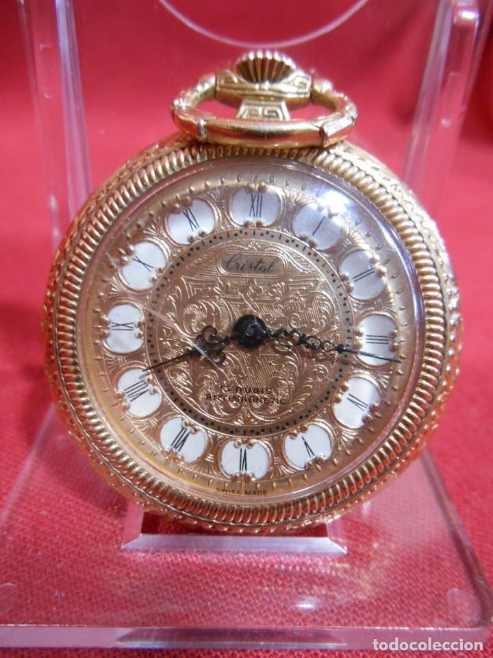 RELOJ DE BOLSILLO MARCA - CRISTAL - DIAMETRO 35 MM - SWISS - (Relojes - Bolsillo Carga Manual)