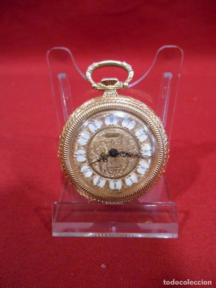Relojes de bolsillo: RELOJ DE BOLSILLO MARCA - CRISTAL - DIAMETRO 35 MM - SWISS - - Foto 2 - 179176593