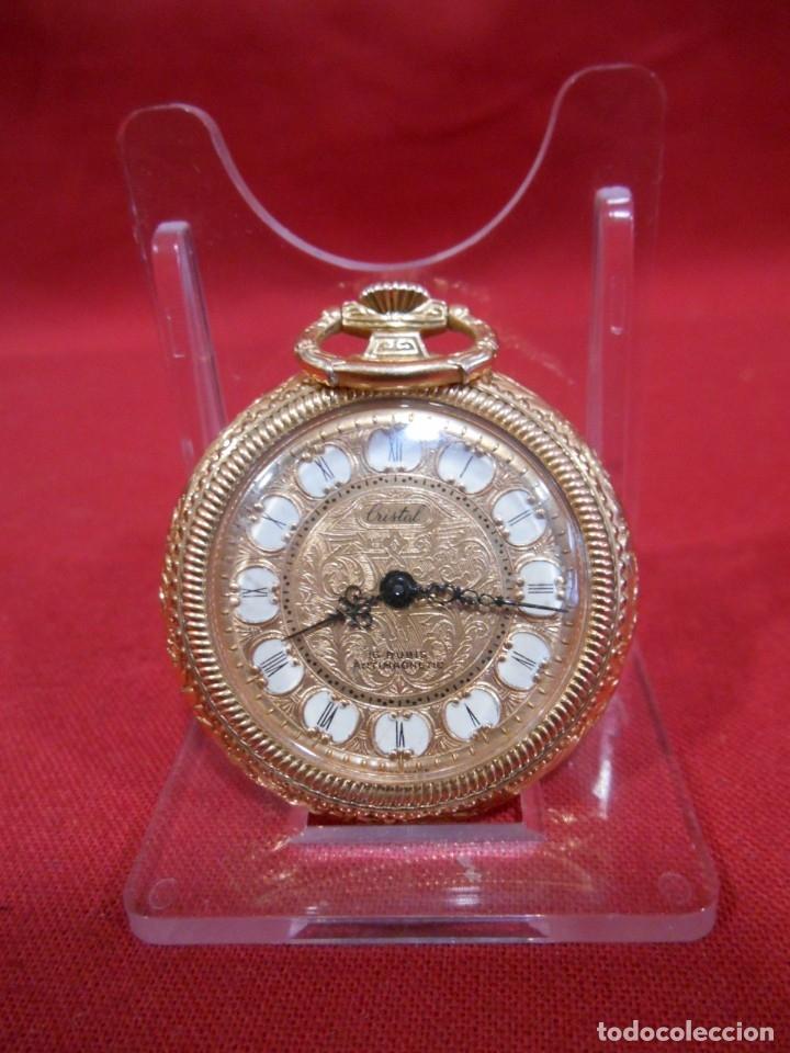 Relojes de bolsillo: RELOJ DE BOLSILLO MARCA - CRISTAL - DIAMETRO 35 MM - SWISS - - Foto 3 - 179176593